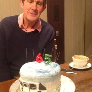 Lee's 65th birthday cake