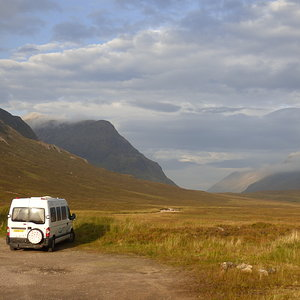 Van at Glen Coe overnight - Peace personified.
